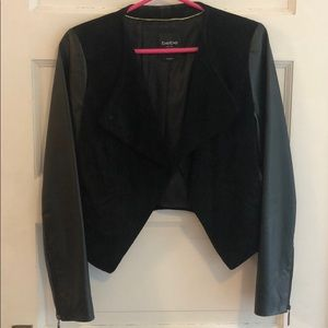 Bebe leather and suede jacket